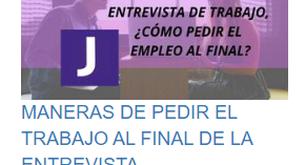 MANERAS DE PEDIR EL TRABAJO AL FINAL DE LA ENTREVISTA